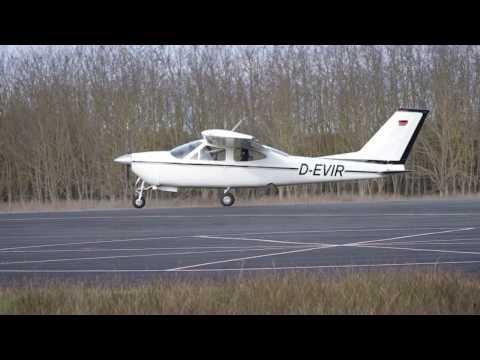 Cessna F-177-RG Cardinal, D-EVIR Take off runway 29 LFDM