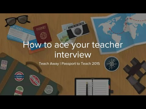 Passport to Teach | Get Ready to Ace Your Teacher Interview
