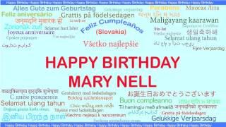 MaryNell   Languages Idiomas - Happy Birthday