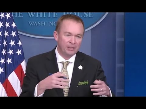 TRUMP BUDGET DIRECTOR: WE'RE NOT SPENDING MONEY ON CLIMATE CHANGE ANYMORE. IT'S A WASTE OF MONEY