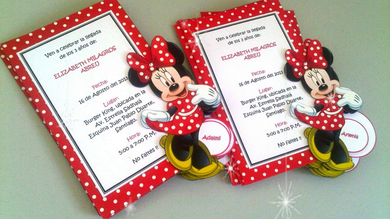 15 Modelos De Invitaciones De Minnie Mouse