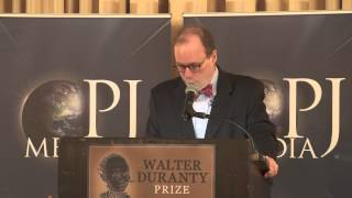 Roger Kimball at the First Annual Walter Duranty Awards