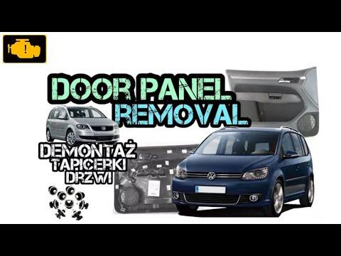 FRONT DOOR PANEL COVER - Volkswagen Touran - How To Remove Unscrew Inside door panel Boczek drzwi