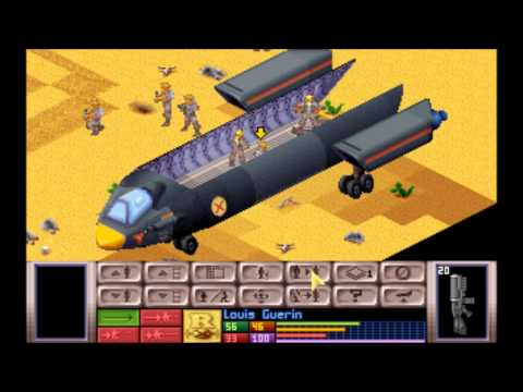 X-Com: UFO Defence (MS-DOS) Intro und Gameplay