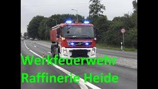 Einsatzfahrt KdoW & WLF AB-Protein Werkfeuerwehr Raffinerie Heide
