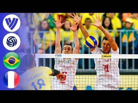 Brazil Vs. France - FULL FINAL   Men's Volleyball World League 2017
