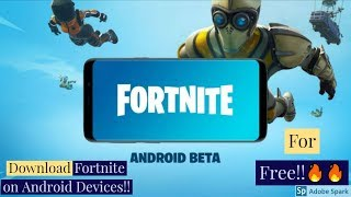 How to download Fortnite on Android Devices!!🔥🔥List of Compatible Phones!!🔥