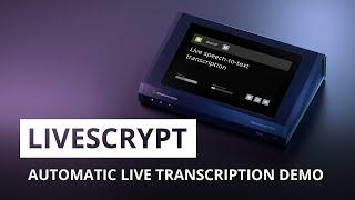 Epiphan LiveScrypt: Automatic live transcription demo, features, and setup
