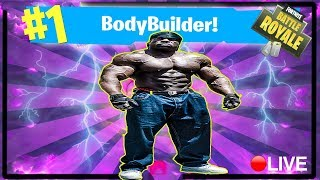 #1 BODYBUILDER: FORTNITE:BATTLE ROYALE {✅ SPONSOR GOAL 65/100} | 🎮 PS4 PRO | Kali Muscle