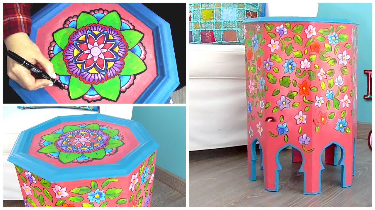 how to paint and decorate furniture with zentangle art and mandalas