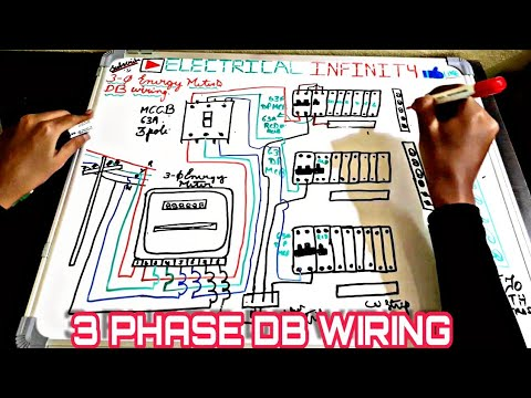 Wiring of 3 Phase Distribution Board from energy meter|3 Phase DB Wiring on