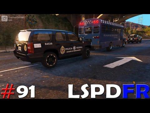 GTA V LSPDFR #91 POLICIA FEDERAL GENDARMERIA - ESCOLTANDO PRISIONEROS  | TheAxelGamer