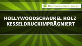 Hollywoodschaukel Holz Kesseldruckimprägniert