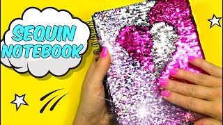 DIY Crafts to Make When You are BORED! SEQUIN NOTEBOOK!