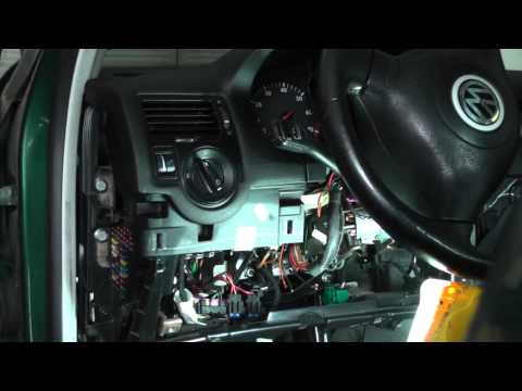 Volkswagen Jetta Repairing Ignition Switch Wiring Harness - Part 4