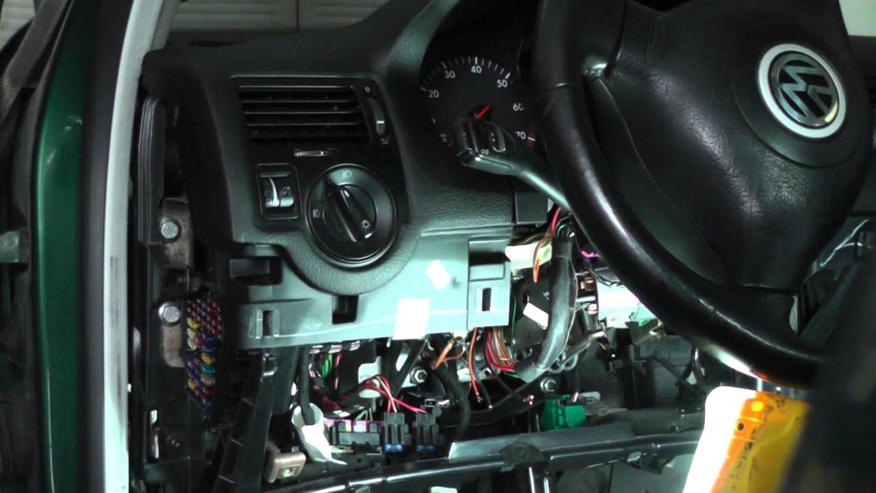 Volkswagen Jetta Repairing Ignition Switch Wiring Harness  Part 4  YouTube