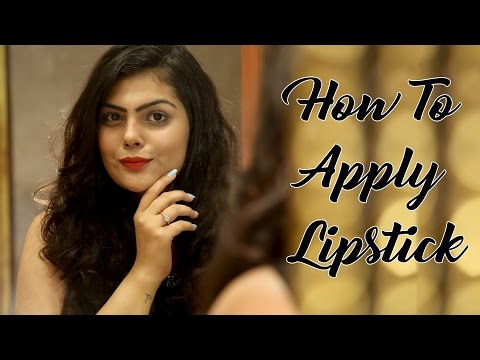 How To Apply Lipstick | Lipstick Tutorial | Makeup For Beginners | Makeup Tips