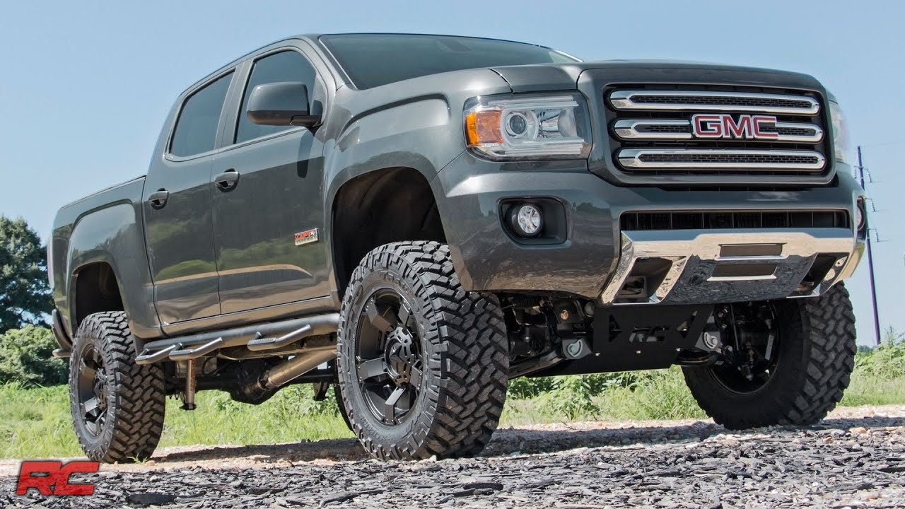 gmc canyon lifted 2015 2017 gmc canyon 6 inch suspension lift kit by rough [ 1280 x 720 Pixel ]