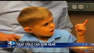 Deaf Toddler Hears Father for Very First Time! Heartwarming Moment! Grayson Clamp Reaction
