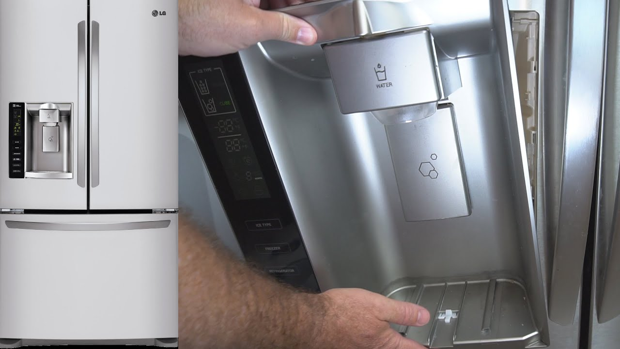Lg Refrigerator Ice Dispenser Repair Ice Dispenser Flap Not