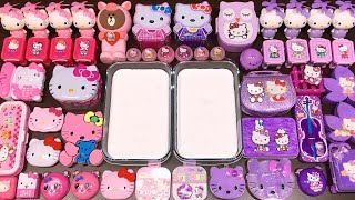 special-series-30-hello-kitty-purple-vs-pink-mixing-random-things-into-glossy-slime