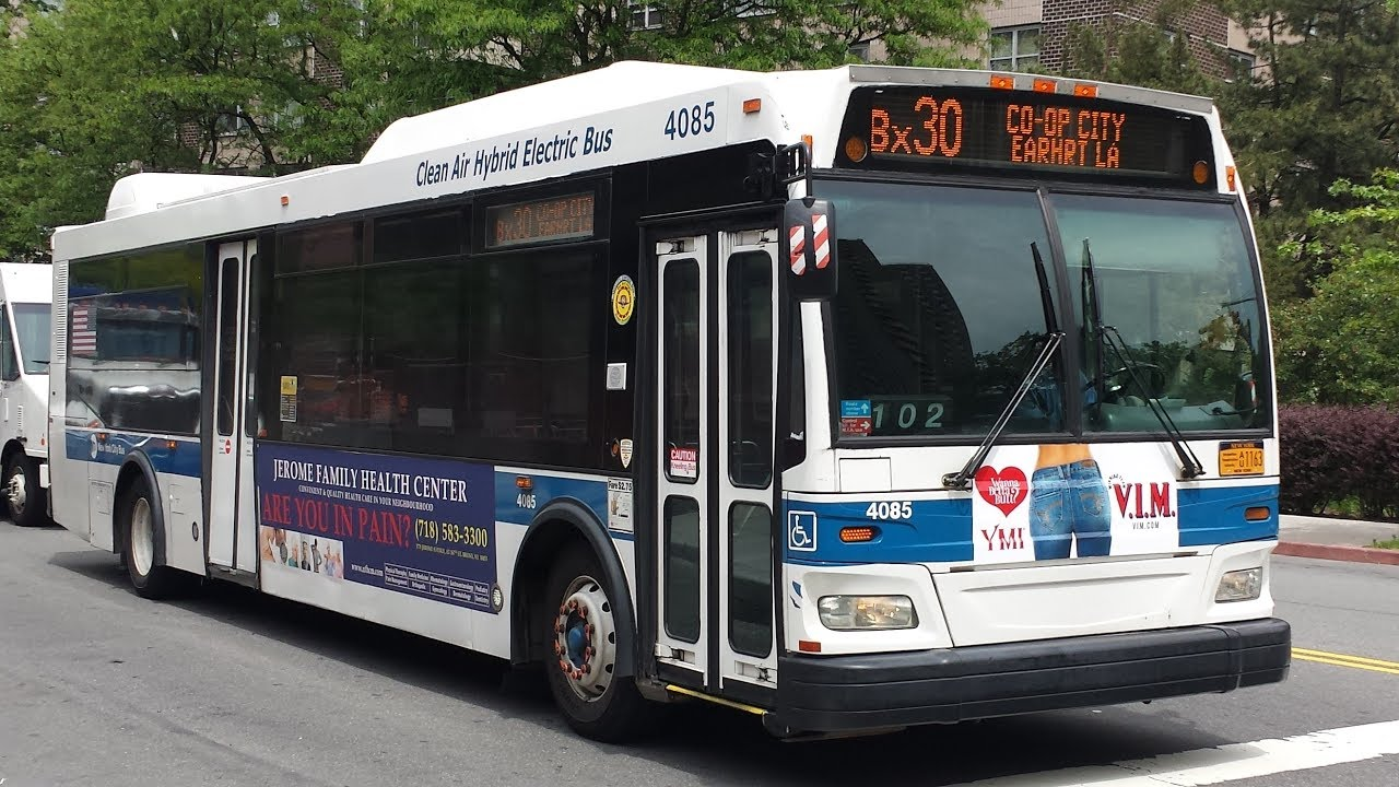 mta nyc bus: on board orion vll hybrid next generation [#4095] bx30