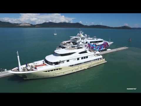 Marinetek pontoons at Phuket Yacht Haven Marina