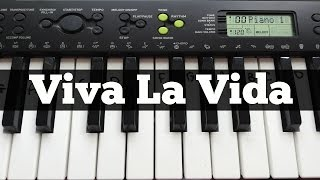 Viva La Vida - Coldplay | Easy Keyboard Tutorial With Notes (Right Hand)