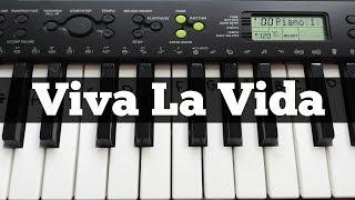 Viva La Vida - Coldplay | Easy Keyboard Tutorial With Notes (Right Hand)