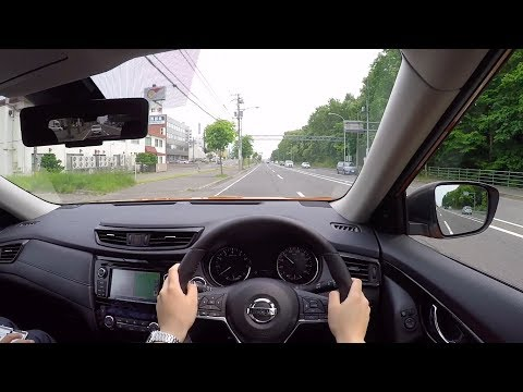 【Test Drive】2017 New NISSAN X-TRAIL(ROGUE) Hybrid 4WD - POV City Drive