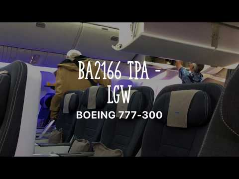 British Airlines Flight BA2166 TPA to LGW London