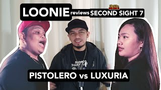LOONIE | BREAK IT DOWN: Rap Battle Review E131 | SECOND SIGHT 7: PISTOLERO vs LUXURIA