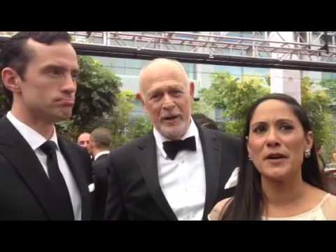 Nathan Darrow, Gerald McRaney, Sakina Jaffrey 'House of Cards' on Emmys red carpet