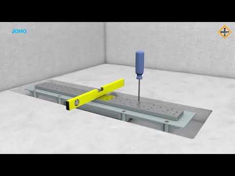 Montaż - odpływ liniowy JOMO/WERIT
