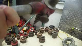 Ridgid 700 Pipe Threader  Cart  16 Dies  Cutter  amp  Reamer