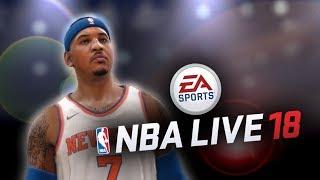 NBA LIVE 18: KNICKS VS TRAIL BLAZERS | Carmelo Anthony, Damian Lillard Gameplay