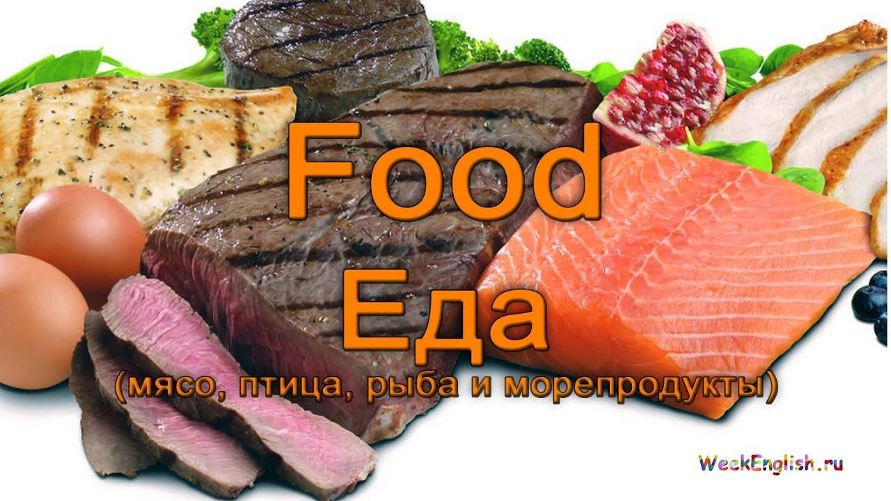 мясо на английском языке