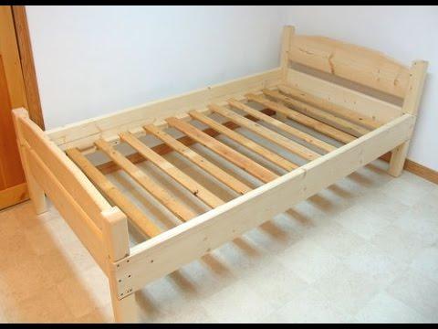 Ролик Односпальная кровать своими руками