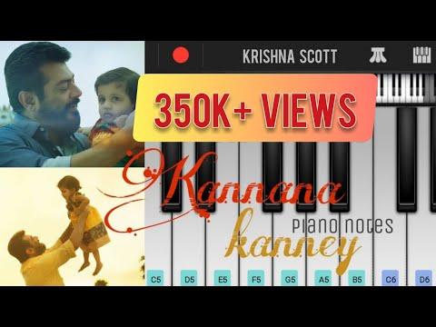 viswasam- -kannana-kanney-full-song- -piano-cover- -notes- -mobile-piano- -walk-band