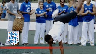 Welbeck and Sturridge dance capoeira | Inside Access