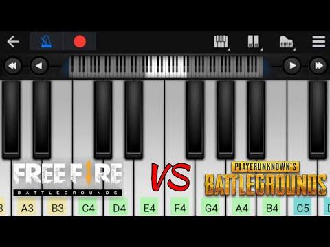 PUBG VS FREE FIRE | Theme Music | Easy Piano Tutorial | Perfect Piano thumbnail