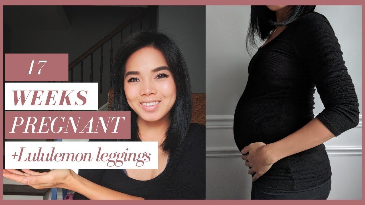 bb947c60271b0 17 Weeks Pregnant | Lululemon Leggings | Belly Shot w Baby #2 - YouTube