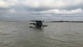 Whisper White Formula Catamaran capsizing and recovery