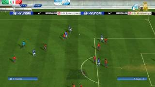 FIFA World Cup 2010 PC Gameplay ESP vs ITA 1st half