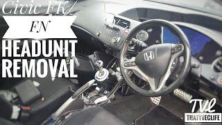Eighth Gen Civic (FK/FN) Clean Stock Headunit Bluetooth & Aux Mod Install (Part 1)| Headunit Removal thumbnail