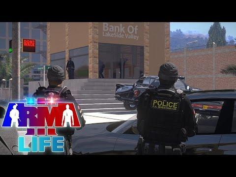 Arma 3 Life Police #1 - Bank Robbery!