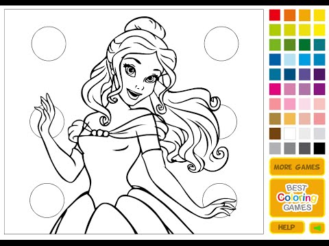 Online Coloring Games For Kids Disney Princess Coloring Games YouTube