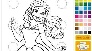 Online Coloring Games For Kids - Disney Princess Coloring Games