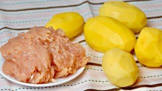 ФАРШ КАРТОШКА Картофельные лилии с мясом Рецепт Вкусно и просто