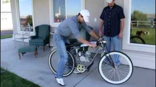 Custom Motorized bicycle board track racer